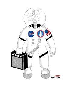 Spaceman by Juan Ponte. #astronaut #nasa #space #spaceman #iss #stratosphere #armageddon #guitar #guitarporn #guitarlove # luthier #guitarart #surrealguitar #guitarbyjuanponte #illustration #prints #graphicdesign #drawings #fender #fenderguitars #stratocaster #strat #fendersofinstagram #fendercustomshop #hardrockcafe #yorokobu #picame #graphicdesigncentral
