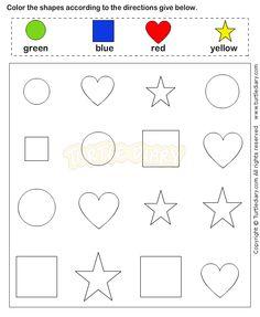 Shapes3 - math Worksheets - preschool Worksheets