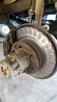 These brakes that probably aren't as responsive as they used to be.