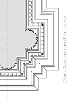 Ionic Order: soffit detail