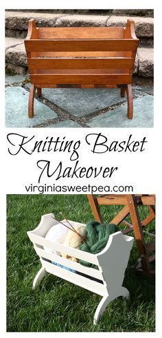 Knitting Basket Makeover (Thrift Store Upcycle Challenge