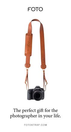 FOTO's James genuine leather camera strap can be personalized with a monogram or business logo, making this all-leather camera strap the perfect personalized gift. Leather Camera Strap, Camera Straps, Leather Case, Photography Lessons, Photography Camera, Creative Photography, Digital Photography, Foto Canon, How To Make Camera