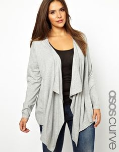 ASOS CURVE Exclusive Waterfall Cardigan