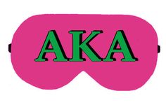 AKA Alpha Kappa Alpha Sorority Greek Sleep Sleeping Eye Mask Masks Night Blindfold Travel Kit cover covers patch pillow wear Slumber Eyewear by venderstore on Etsy