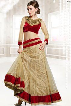 Bridal Peach and Red Net Resham and Zari Thread Embroidered Border Leh – Your Bridal Bazaar