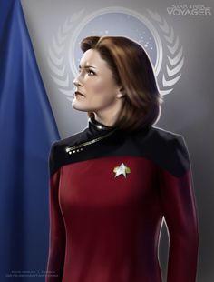 Captain Janeway by G672.deviantart.com on @deviantART