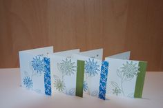 7 by7cm cards made with Stampin'Up! Grateful Bunch Stamp Set and Blossom Bunch Punch