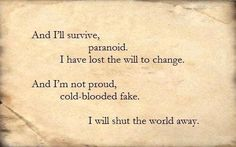 I will not bow- Breaking Benjamin