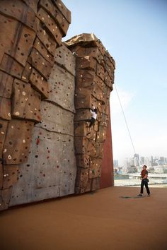 The Climbing Wall at Bakar Fitness & Recreation Center at UCSF Mission Bay