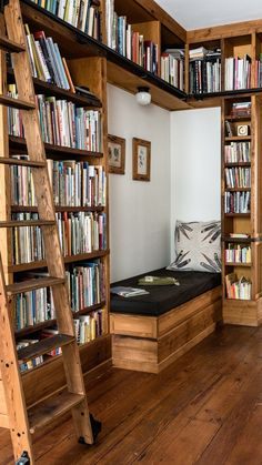 Home Library Rooms, Home Library Design, Home Libraries, Dream Home Design, House Rooms, Home Interior Design, Dream Library, House To Home, At Home