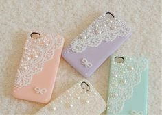 Lace with a cute bow  and colors :      ( pretty pink , lavender, crystal white , and sea green . )