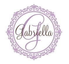 shabby chic elegant script baby name wall decal