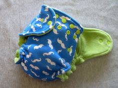 Gracie Loo Hybrid fitted cloth diaper Mustache you to wear cloth diapers by LittleBitLoo Creations, $24.75