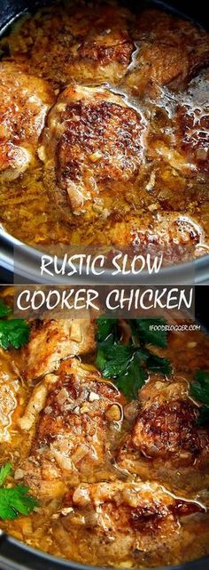 This slow cooker chicken packs so much flavor that you will be running for seconds. Delicious, melt-in-your-mouth tender and succulent. | ifoodblogger.com