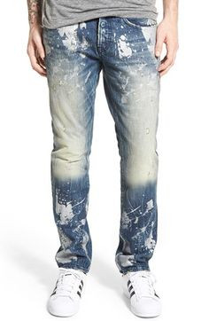 PRPS 'Demon' Slim Straight Leg Jeans (Waxwing) available at #Nordstrom
