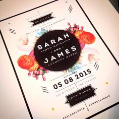 Flowers + Geometrics Save the Date / invitation
