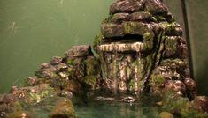 Build a waterfall for a terrarium