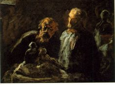 """dominusvenustas: """"The Extraordinary Daumier Honore Daumier was an individualistic painter of his time. While his painter friends pursued the more conventional genres, he forged his own path and his. Figure Painting, Figure Drawing, Painting & Drawing, Honore Daumier, Pastel, Caravaggio, Sculpture, Wood Engraving, Old Master"""