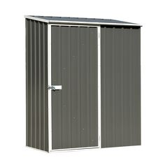 absco sheds x x woodland grey spacesaver single door garden shed - Garden Sheds 7 X 3