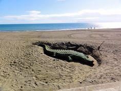 Arte en las playas de la Costa del Sol, en Estepona.