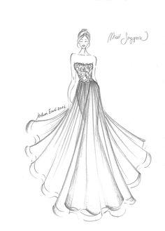 Dress Design Drawing, Dress Design Sketches, Fashion Design Sketchbook, Fashion Design Drawings, Fashion Drawing Tutorial, Fashion Figure Drawing, Fashion Drawing Dresses, Dress Illustration, Fashion Illustration Dresses
