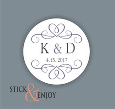 Custom Waterproof Wedding Stickers Personalized Wedding Labels
