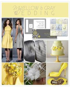 Yellow and silver wedding colors. Just add purple.