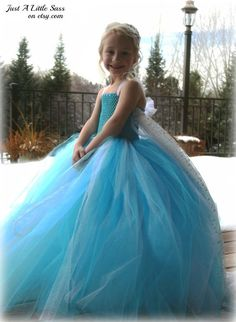 Disney Frozen Snow Queen Elsa Tutu Costume Dress and Optional Removable Train - Toddler