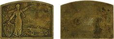 Плакетка «В память IV-ой международной автомобильной, принятой под Высочайшее покровительство И.Е. В, выставки в Санкт-Петербурге. 1913 г.»