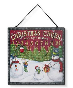 Look what I found on #zulily! Snowman Magnetic Countdown Calender by Grasslands Road #zulilyfinds