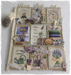Echt schitterend. Dit wil ik ook wel eens maken, maar waar is de tijd?!! Karin's hobby ...............: Pocket (Verjaardags) Letter La Provence................................