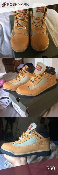 Timberlands These Timbs are juniors but fit women size 5. Worn 1x and comes with original box. Timberland Shoes Winter & Rain Boots