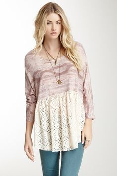 Free People Punched Diamonds Forever Tee by Free People on @HauteLook