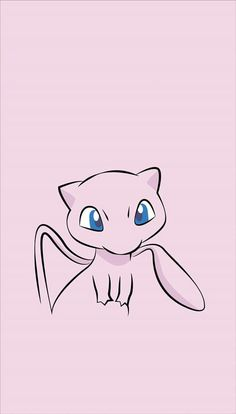 ◾Mew ( ◾Type - Psychic ━━━━━━━━━━━━━━━━ Mew is said to possess the genetic composition of all Pokémon. It is capable of making itself invisible at will, so it entirely avoids notice even if it approaches people. Mew Pokemon, Mew E Mewtwo, Pokemon Party, Pokemon Birthday, Mudkip, Iphone Wallpaper Pokemon, Pokemon Backgrounds, Cute Cartoon Wallpapers, Animes Wallpapers