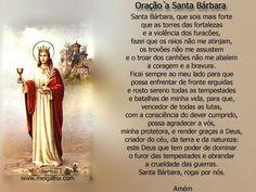 Oração de santa Bárbara - Anjo de Luz
