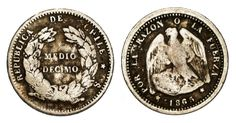 Chile, Antique Coins, Collections, Retro, Antiques, Silver, Coins, World, Vintage Paper