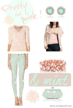 Pretty in pink and mint fashion and accessories from jenny at dapperhouse
