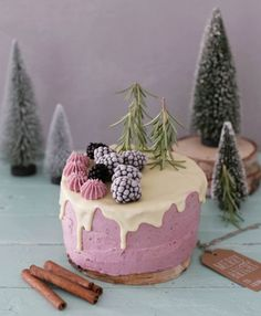 blackberry & black currant cake * Where does inspiration come from? Food Cakes, Cupcake Cakes, Cake Cookies, Slow Cooker Desserts, Black Currant Cake, Cake Recipes, Dessert Recipes, Drip Cakes, Piece Of Cakes