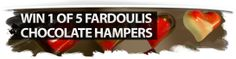 Imagine winning a $200 Fardoulis Chocolate Hamper this Christmas! We have 5 Hampers to give away! Made with velvety pure coverture chocolate, Fardoulis chocolate is available in both milk, dark and 72% chocolate. The new Chocolate Plato Gourmet range includes flavours such as Caramel Rock, Wild Berry and Hazelnut Praline - little bites of heaven that are sure to be a treasured gift this Christmas. Hazelnut Praline, Win Free Stuff, Chocolate Hampers, Little Bites, The Good Place, Berry, Caramel, Heaven, Milk
