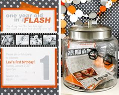 1st Birthday time capsule- notes from guests, mini album, party invite, etc. Open on 18th birthday.