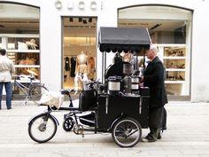 Mobile Coffee Bike in the centre of Copenhagen