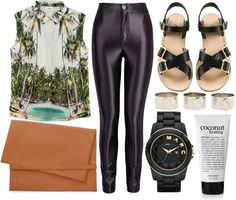 """coconut kisses"" by anahat-baweja ❤ liked on Polyvore"