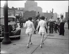 In 1937 two women caused a car accident by wearing shorts in public.