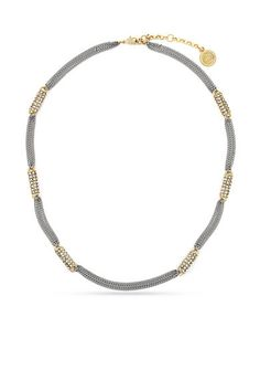 Shashi Eliza Crystal Choker in Metallic Gold