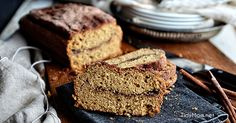 HOMEMADE CINNAMON BREAD A simple quick bread recipe with a thick cinnamon crust and swirl inside.