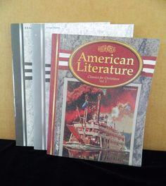 ABeka American Literature Book  w.Test & Key, Homeschool / School, 3rd Ed #TextbookBundleKit