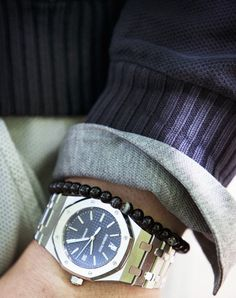 Style Tip:  You don't have to stack your bracelets.  One will work well with your timepiece.  ===>  FOLLOW US ON PINTEREST for more Styling tips,  men' essentials and our SALES ~~~ VujuWear
