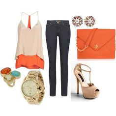 The orange is a little too matchy, matchy. But I do love the fun colors, and individual pieces.