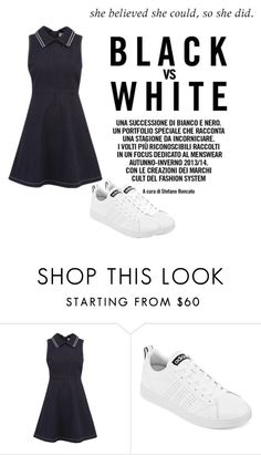 """""""Untitled #409"""" by grassgrvsk ❤ liked on Polyvore featuring RED Valentino and adidas"""