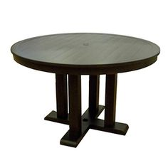 allen   roth�Dellinger 48-in Aged Bronze Aluminum-Frame Round Patio Dining Table
